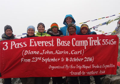 3 pass Everest Trek